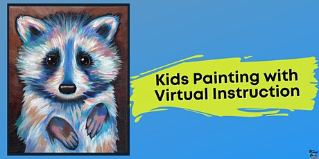 Rocky Raccoon Painting for Kids (Virtual Instruction) tickets