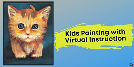 Kitty Painting for Kids (Virtual Instruction) tickets