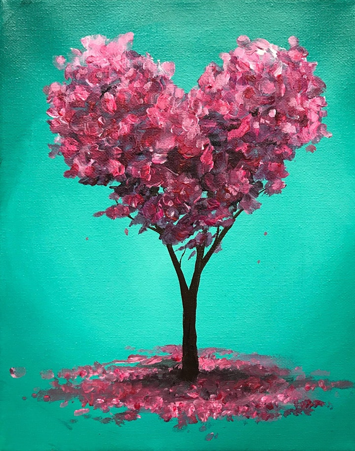 Heart Tree Painting for Kids (Virtual Instruction) image