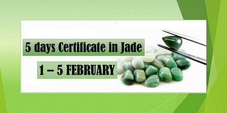 5 Days Certificate in Jade course tickets