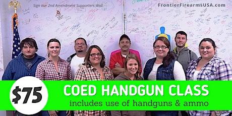 COED FUNDAMENTAL HANDGUN CLASS  - Includes Handguns & Ammo tickets