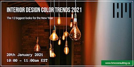 Interior Design Color Trends 2021 tickets