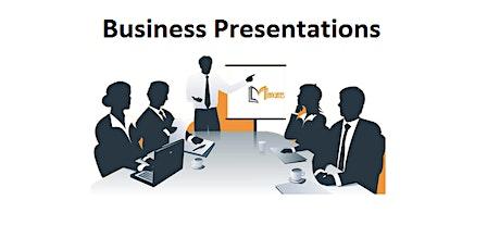 Business Presentation 1 Day Virtual Live Training in Sheffield biglietti