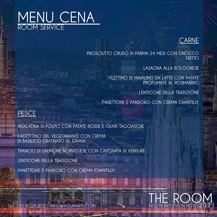 Immagine THE ROOM 2021 / New Year's Eve in Hotel