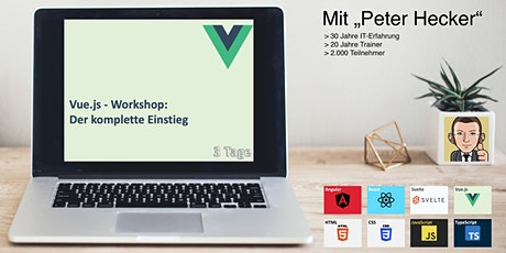 Vue.js Workshop - 3 Tage Online-Training: Der komplette Einstieg Tickets