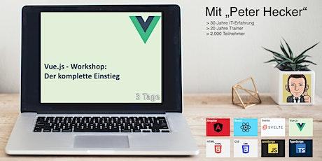 Vue.js Workshop - 3 Tage Online-Training: Der komplette Einstieg tickets