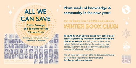 Build it Green & SUMA Equity Alliance Winter 2020-21 Book Club tickets
