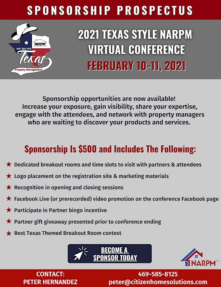 Texas Syle NARPM Conference Sponsorship 2021 image