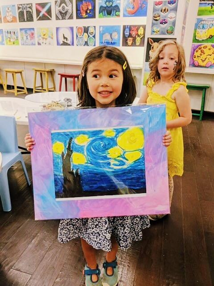 60min Learn to Paint a Scenery: Sunset @1PM  (Ages 6+) image