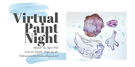 Virtual Paint Night: Sea Shells! tickets