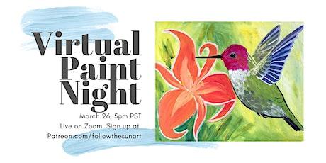 Virtual Paint Night: Hummingbird! tickets
