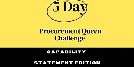 5 Day Capability Statement Challenge tickets