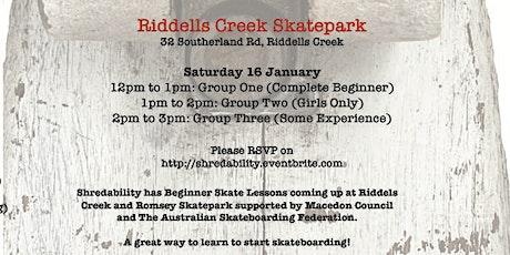 Free Skateboarding Lessons Riddells Creek tickets