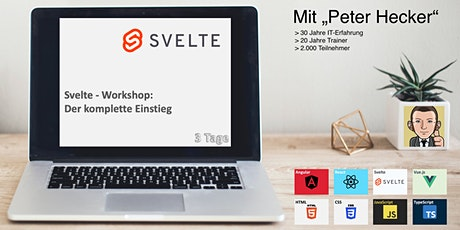Svelte Workshop - 3 Tage Online-Training: Der komplette Einstieg Tickets