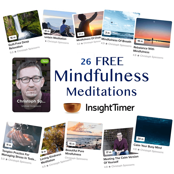 Calm with Christoph LIVE ONLINE MINDFULNESS MEDITATION image