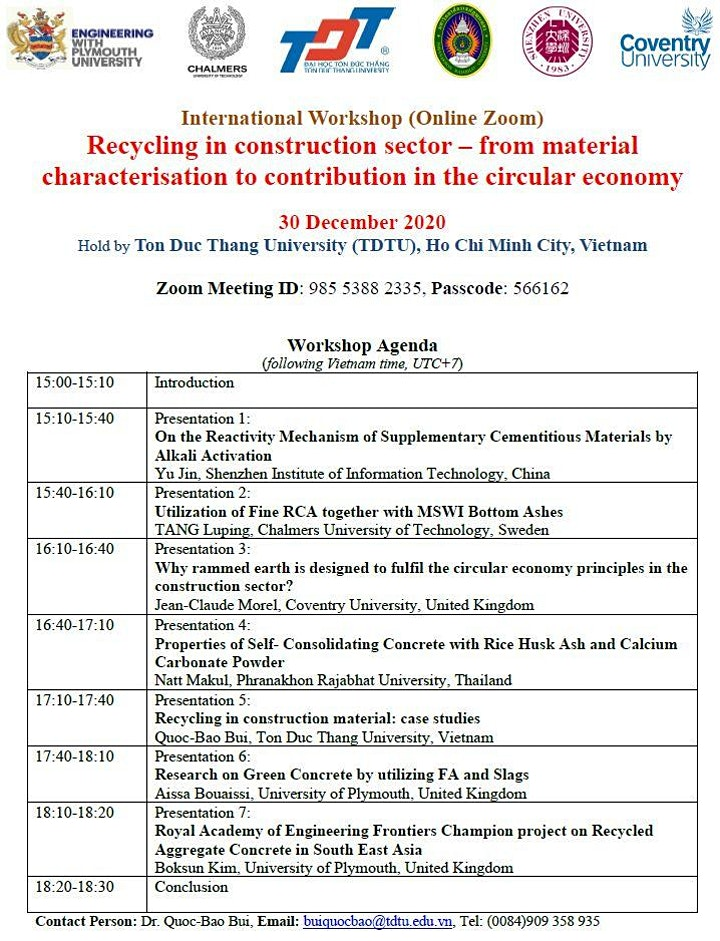 International Workshop on Recycling in Construction Sector image