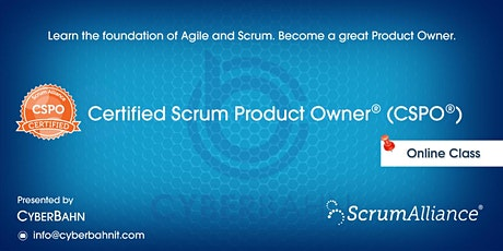 Certified Scrum Product Owner-(CSPO) billets