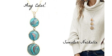 Create Connect Night Virtual Jewelry Making Class  - Sweater Necklace tickets