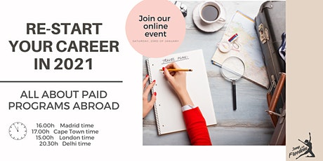 Free masterclass: Re-start your career abroad in 2021 tickets