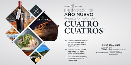 Experience the best of Cuatro Cuatros: Bar Bura y Tahona New Year's Package boletos