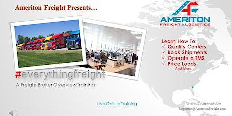 Freight Broker Overview tickets