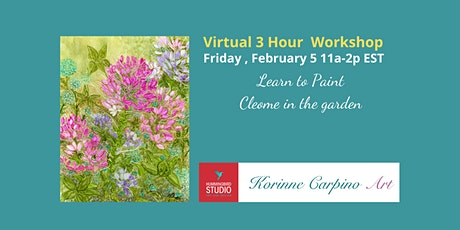 Learn to Paint Cleome in the Garden with Alcohol Inks tickets