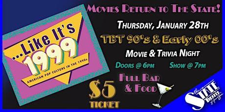 JAN 28th - $5 Movie & Trivia Night tickets