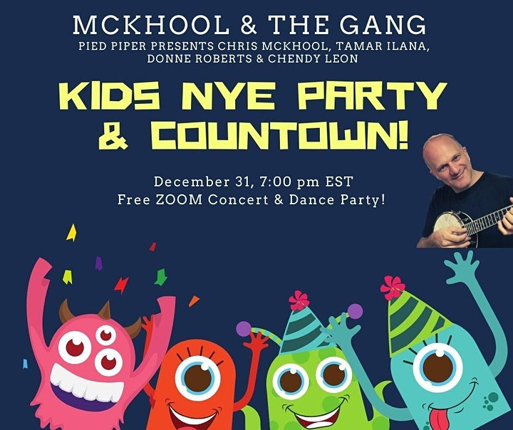 Kids New Year's Eve ZOOM Party and Countdown -  McKhool & the Gang image