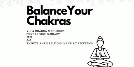 Balance your chakras tickets