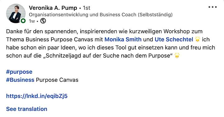 Business Purpose Canvas - Facilitator Ausbildung image