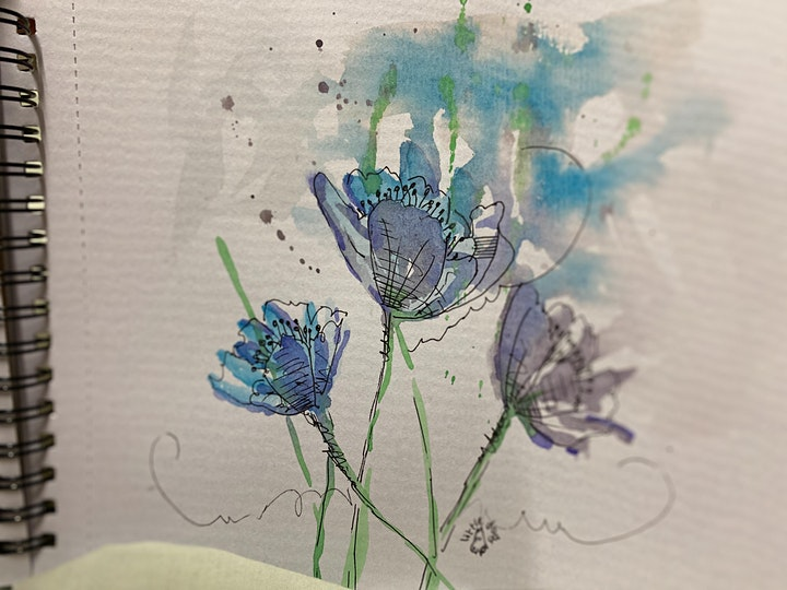Ink and Watercolour Paint and Sip Brisbane 8.1.21 image