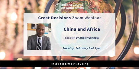 Great Decisions: China and Africa tickets