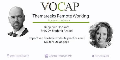 VOCAP Themareeks Remote Working | Deel 1: Academische Sessie tickets