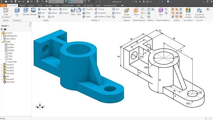 Immagine Modellazione 3D  con Inventor - corso base
