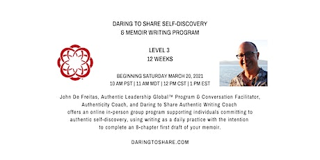 Daring to Share Self-Discovery & Memoir-Writing Program Level 3 tickets
