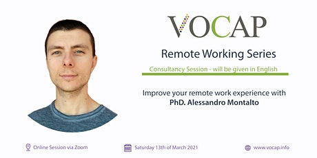 VOCAP Themareeks Remote Working | Deel 2: Consultancy Session [EN] tickets