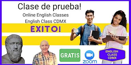 Free Online English Class: De Muestra boletos