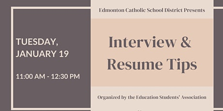 ED WEEK - ECSD Interview/Resume Tips tickets