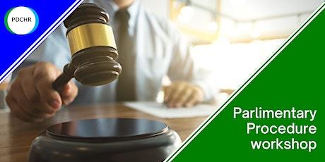 Parliamentary Procedures Workshop tickets