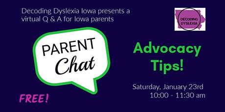 Parent Chat:  Advocacy Tips! tickets