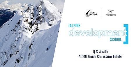 SheJumps Alpine Development School | Q & A tickets