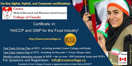 Online Certificate in HACCP and GMP for the Food Industry tickets