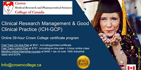 Online Certification in Clinical Research Management and ICH-GCP tickets