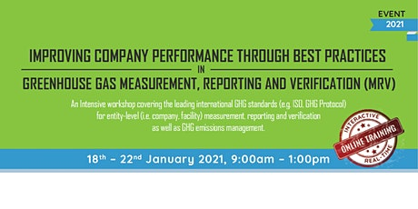 Best Practices in Greenhouse Gas Measurement, Reporting and Verification tickets