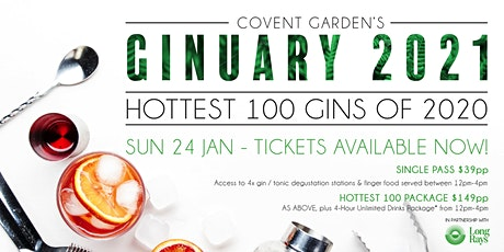 Ginuary 2021 | Hottest 100 Aussie Gins of 2020 - Live Countdown tickets