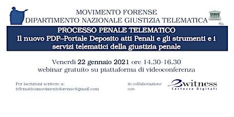 PROCESSO PENALE TELEMATICO. Strumenti e servizi della giustizia penale. biglietti