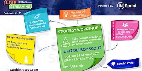 Kit del BoyScout: metodi di pensiero progettuale per successo del business biglietti