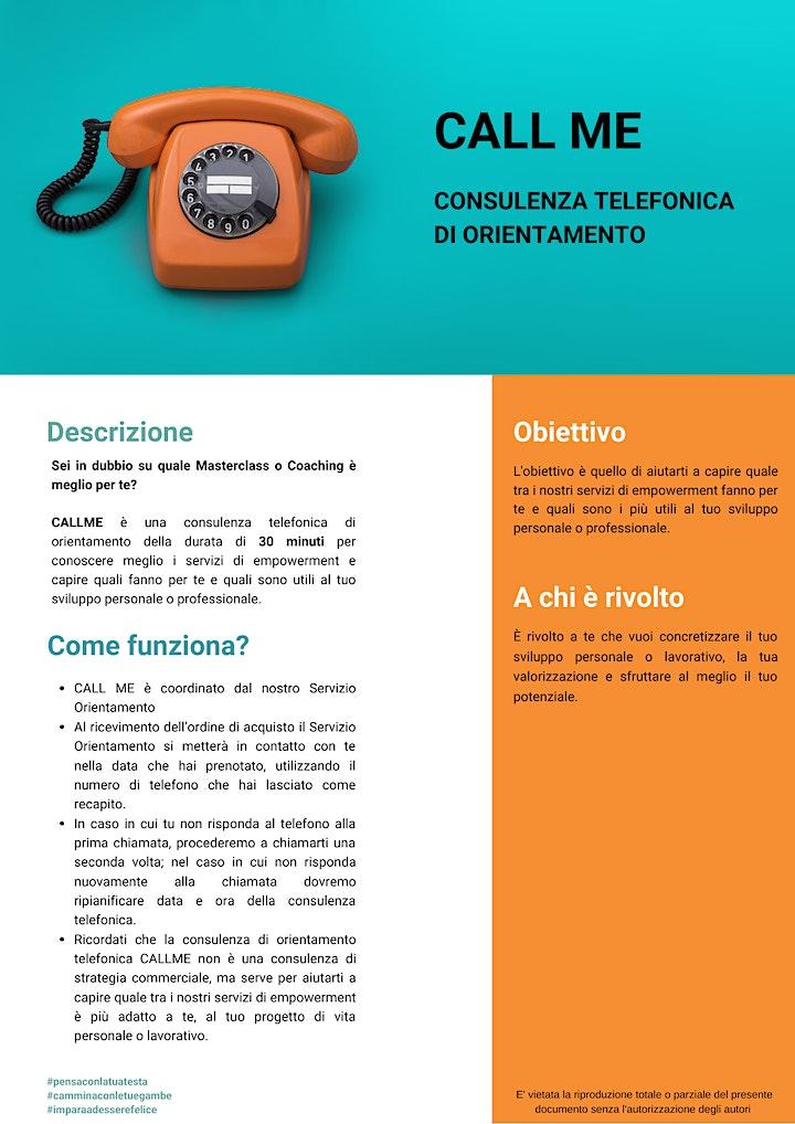 Immagine CALL ME consulenza telefonica di orientamento professionale