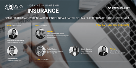 DSPA MORNING INSIGHTS ON INSURANCE, com o Apoio da DCX.technology tickets