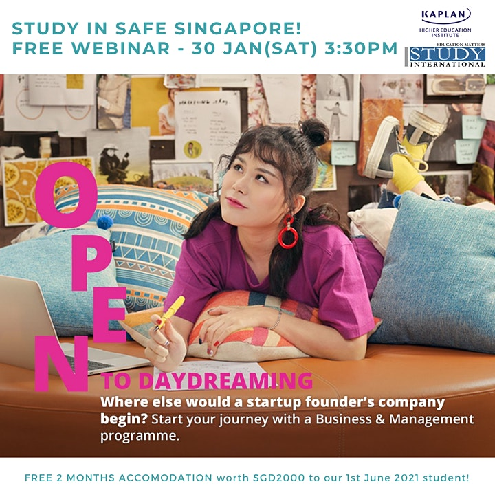 Study in Safe Singapore with Kaplan! image
